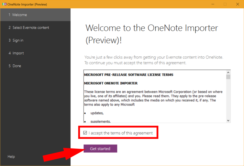 Import Evernote into OneNote in Windows