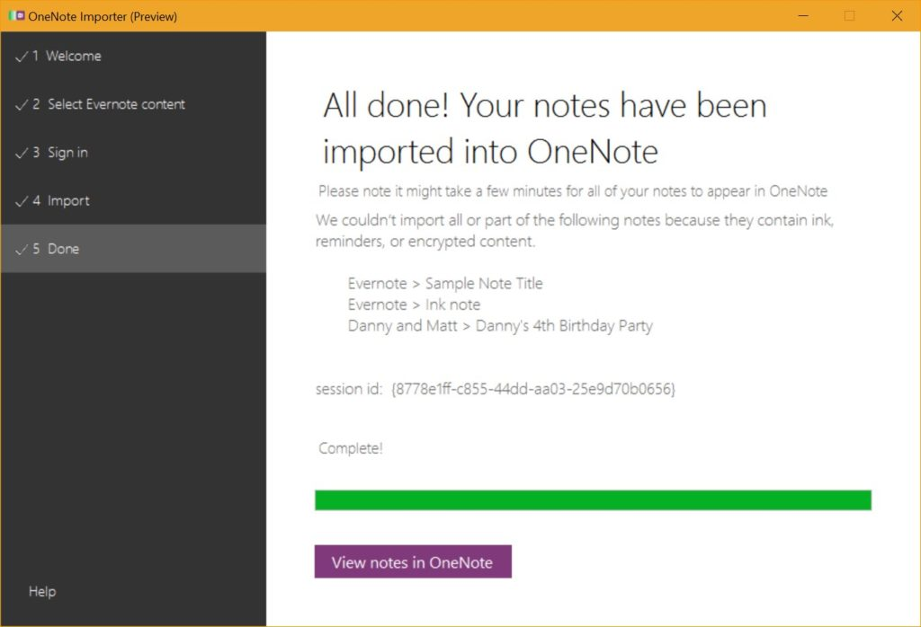 How to move from Evernote to OneNote