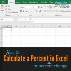 How to calculate a percent difference in Excel or a percentage in Excel