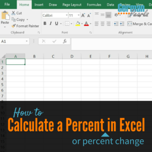 How to Calculate a Percent in Excel