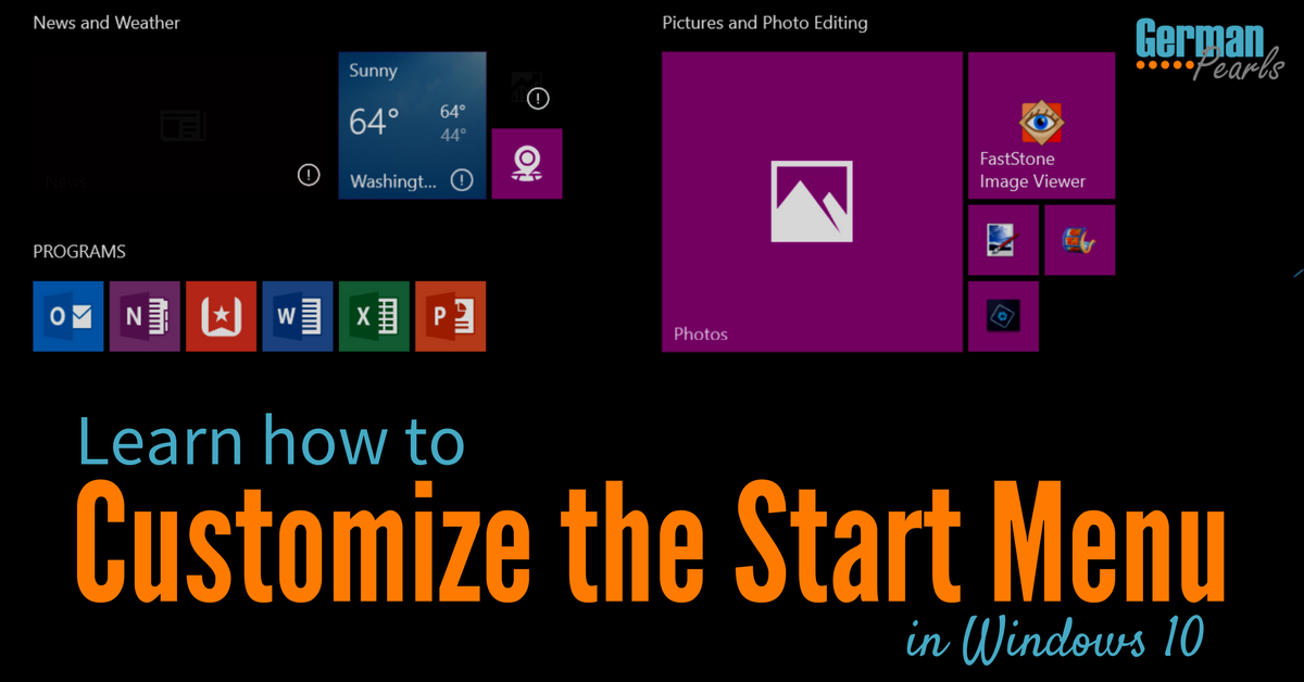 How to Customize Windows 10 Start Menu