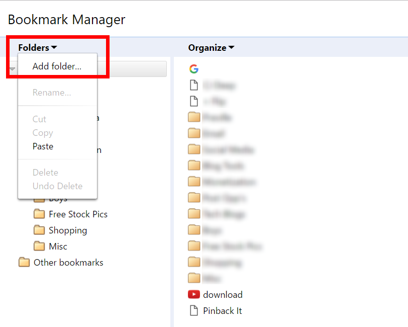 How to Create a Bookmark Folder in Google Chrome