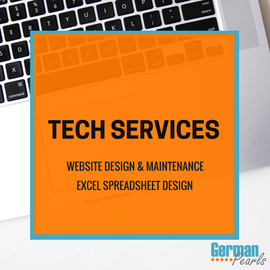 German Pearls Tech Services | Website Design | Website Maintenance | Excel Spreadsheet Development | Tech Support Services