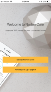 norton core router setup is easy with the app